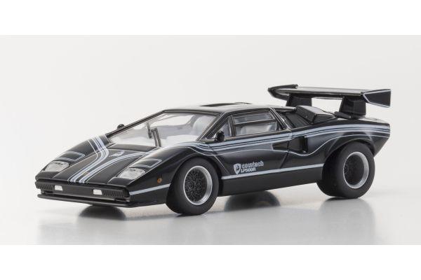 KYOSHO 1/64scale Lamborghini Countach LP500R Black/White Line [No.KS07051A5]