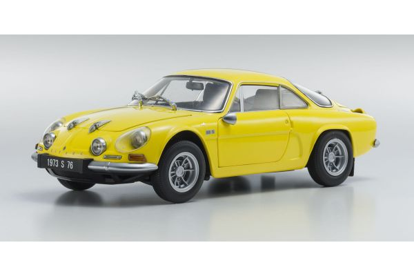 KYOSHO 1/18scale Alpine Renault A110 1600S Yellow [No.KS08484Y]