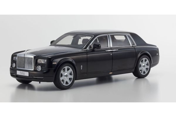 KYOSHO 1/18scale Rolls-Royce Phantom EXTENDED WHEEL BASE Diamond Black [No.KS08841DBK]