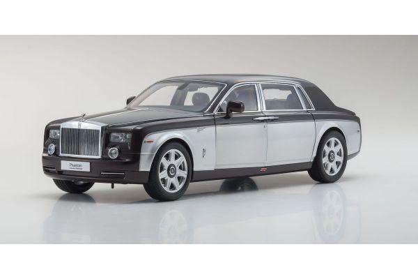 KYOSHO ORIGINAL 1/18scale Rolls-Royce Phantom EXTENDED WHEEL BASE (Dark Red / Silver)  [No.KS08841DRB]
