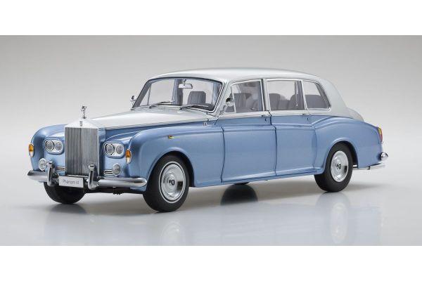 KYOSHO ORIGINAL 1/18scale Rolls Royce Phantom VI (Light blue / silver)  [No.KS08905LBS]