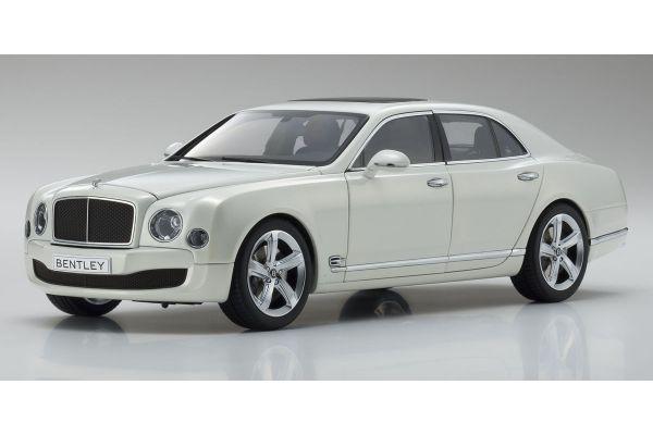 KYOSHO ORIGINAL 1/18scale Bentley Mulsanne Speed  Ghost White  [No.KS08910GHW]