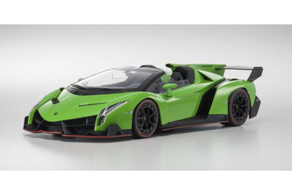 OUSIA 1/18scale Lamborghini Veneno Roadster Green/Red line [No.KSC09502GRR]