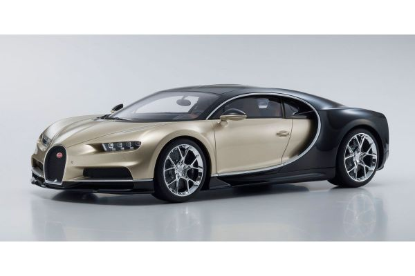 KYOSHO ORIGINAL 1/12scale Bugatti Chiron (Gold / Black)  [No.KSR08664GL]