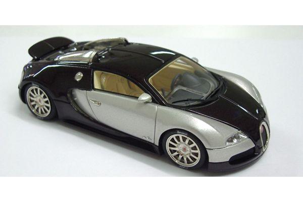 LOOKSMART 1/43scale Bugatti Veyron Study 2003 with rear Aileron Dark Brown / Silver [No.LS114E]