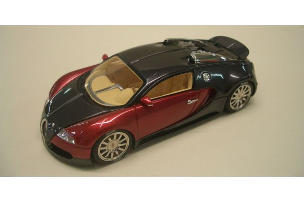 LOOKSMART 1/43scale Bugatti Veyron Study 2003 with rear Aileron Black / Red [No.LS114F]