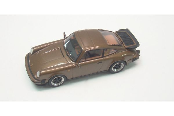 LOOKSMART 1/43scale Porsche 911 3.2 Coupe 1989 with rear Wing BrownMetallic [No.LS203B]