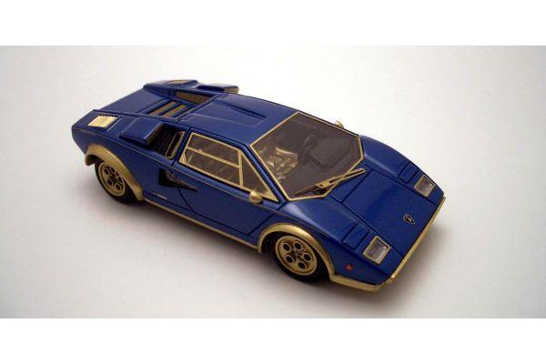 LOOKSMART 1/43scale Lamborghini Countach  LP500 S Walter Wolf Metallic Blue /MatGold [No.LS324B]