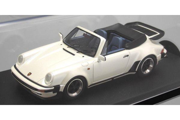 LOOKSMART 1/43scale Porsche 911 Cabriolet Turbo Look Pearl White [No.LS361A]