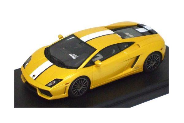 LOOKSMART 1/43scale Lamborghini  Gallardo  LP550-2 Valentino Balboni Metallic Yellow/White/Gray Stripe [No.LS367B]