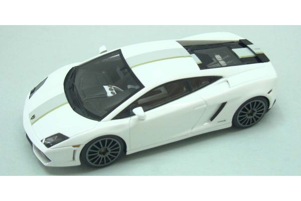 LOOKSMART 1/43scale Lamborghini  Gallardo  LP550-2 Valentino Balboni White/Light Gray/Gold Stripe [No.LS367C]