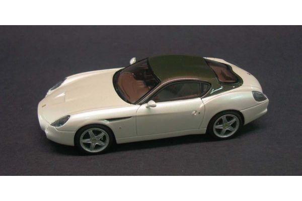 LOOKSMART 1/43scale Ferrari 575 GTZ Pearl White/Dark Silver Roof [No.LS373B]