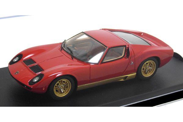 LOOKSMART 1/43scale Lamborghini Miura P400 GenevaMotorShow 1966 Red [No.LS376B]
