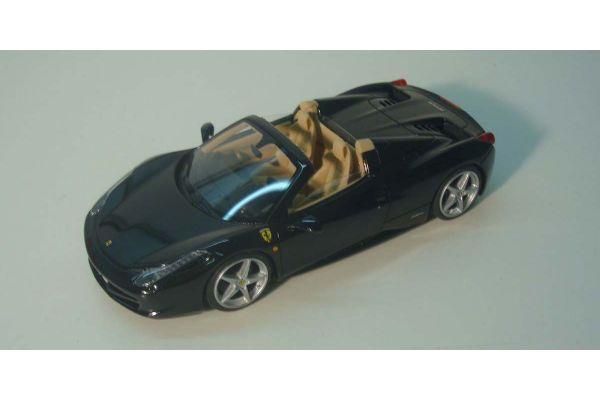 LOOKSMART 1/43scale Ferrari 458 Spyder(Nero Stellato) Black [No.LS393B]