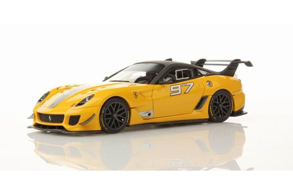 LOOKSMART 1/43scale Ferrari 599XX Evo (Grigio Ghisa Opaco) No.97 Modena Yellow [No.LS400E]