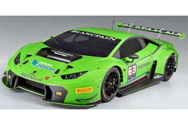 LOOKSMART 1/43scale ランボルギーニ ウラカン GT3 Metallic Green #63 GREEN [No.LS448]