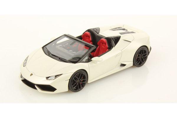 LOOKSMART 1/43scale Lamborghini Huracan LP 610-4 Spyder White [No.LS452E]