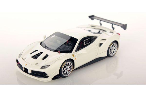 LOOKSMART 1/43scale Ferrari 488 Challenge BIANCO AVUS 100 (White)  [No.LS476E]