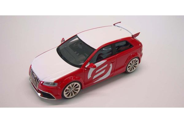 LOOKSMART 1/43scale Audi A3 Club sport Red /White [No.LSAUDIA3CS]