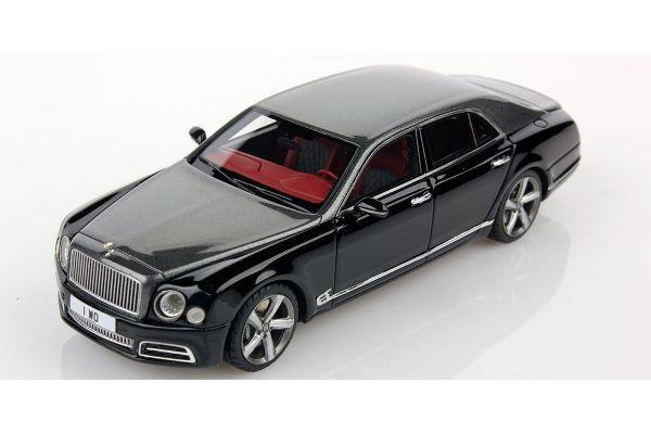 LOOKSMART 1/43scale Bentley Mulsanne Speed Tungsten Over Volcanic Black  [No.LSBT09E]