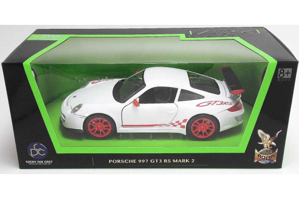 LUCKY DIE CAST 1/24scale Porsche 997 GT3 RS Mark 2 WHITE [No.LUC24213W]