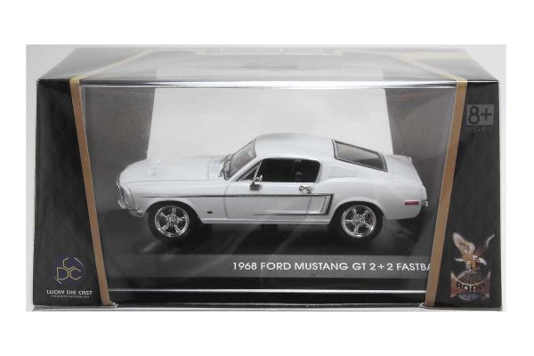 LUCKY DIE CAST 1/43scale 1968 Ford Mustang GT WHITE [No.LUC43206W]