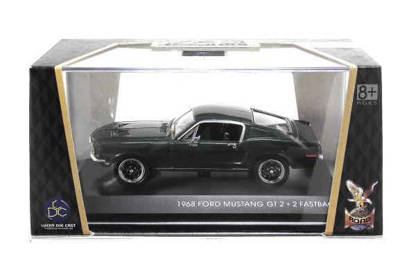 LUCKY DIE CAST 1/43scale 1968 Ford Mustang GT Bullitt GREEN [No.LUC43207GR]