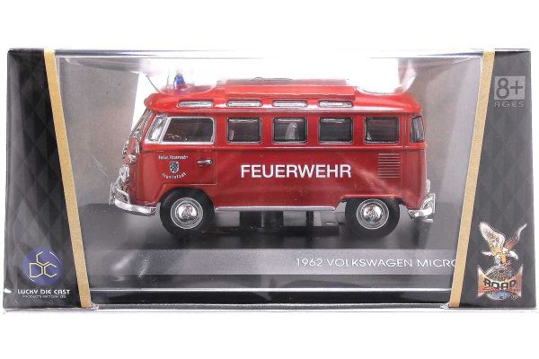 LUCKY DIE CAST 1/43scale 1962 Volkswagen Microbus (Fire Version)  [No.LUC43211R]