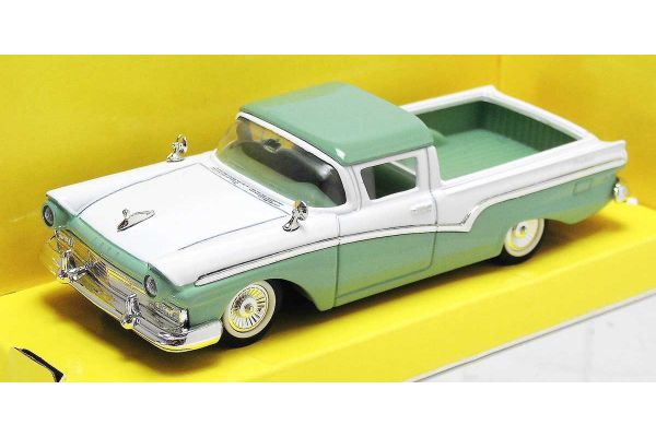 LUCKY DIE CAST 1/43scale 1957 Ford Ranchero WHITE/LIGHT GREEN [No.LUC94215WG]