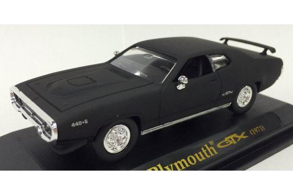 LUCKY DIE CAST 1/43scale 1971 Plymouth GTX Matt Black [No.LUC94218B]