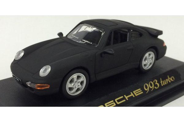 LUCKY DIE CAST 1/43scale 1996 Porsche 911 Turbo (993) Matt Black [No.LUC94219B]