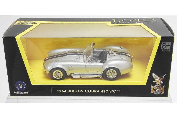 LUCKY DIE CAST 1/43scale 1964 Shelby Cobra 427 S/C SILVER [No.LUC94227S]