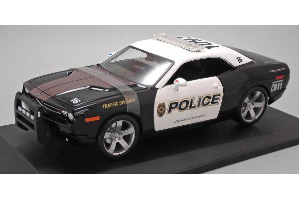 MAISTO 1/18scale Dodge Challenger Police Car (Black)  [No.MS31365BK]