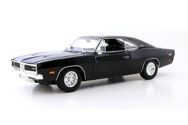 MAISTO 1/18scale 1969 Dodge Charger R/T Metallic Black  [No.MS31387MBK]