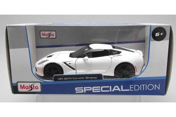 MAISTO 1/24scale 2014 Corvette StinGray coupe White  [No.MS31505W]