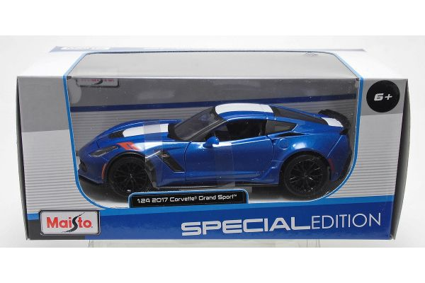 MAISTO 1/24scale 2017 Corvette Grand Sports Metallic Blue  [No.MS31516MBL]