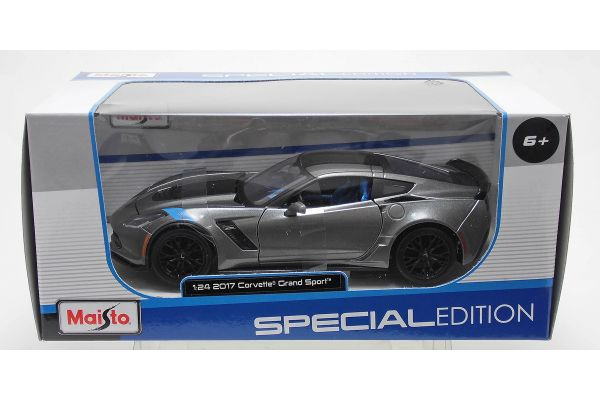 MAISTO 1/24scale 2017 Corvette Grand Sports Metallic Gray  [No.MS31516MGR]