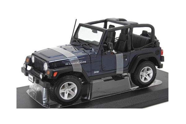 MAISTO 1/18scale Jeep Wrangler Rubicon (Metallic Blue)  [No.MS31663MB]