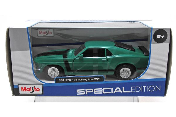 MAISTO 1/24scale 1970 Ford Mustang Boss 302 (Green)  [No.MS31943GR]