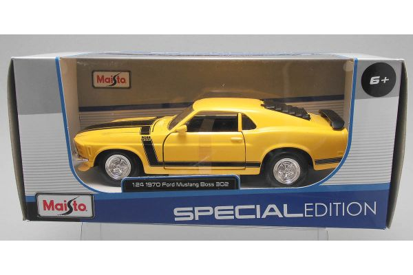 MAISTO 1/24scale 1970 Ford Mustang Boss 302 (Yellow)  [No.MS31943Y]