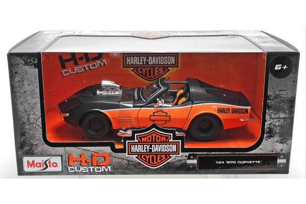 MAISTO 1/24scale 1970 Corvette Black/Orange  [No.MS32193]