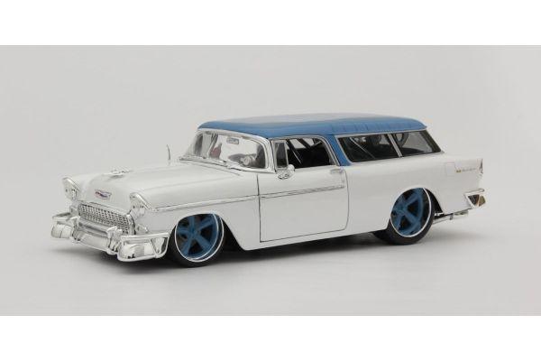 MAISTO 1/18scale 1955 Chevrolet Nomad (Metallic White)  [No.MS32613MTW]