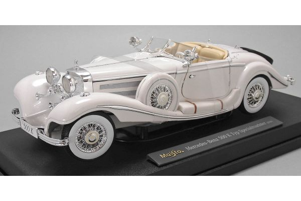 MAISTO 1/18scale 1936 Mercedes-Benz 500k Typ Special Roadster White  [No.MS36055W]