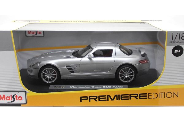 MAISTO 1/18scale Mercedes Benz SLS AMG Silver  [No.MS36196S]