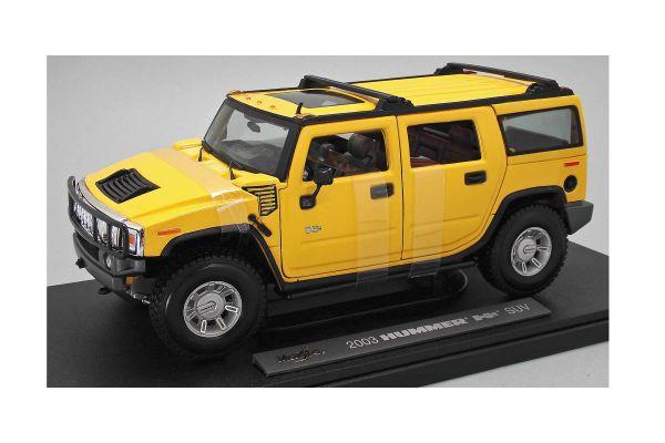 MAISTO 1/18scale 2003 HUMMERR H2R SUV (Yellow)  [No.MS36631Y]