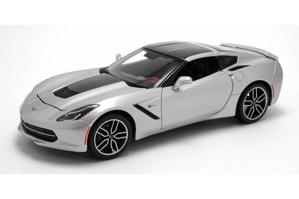MAISTO 1/18scale Corvette StinGray Z51 (Silver)  [No.MS38132]