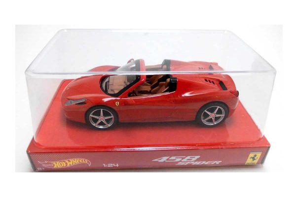 MATTEL (HOT WHEELS) 1/24scale フェラーリ 458 イタリア スパイダー レッド [No.MTBLY64]