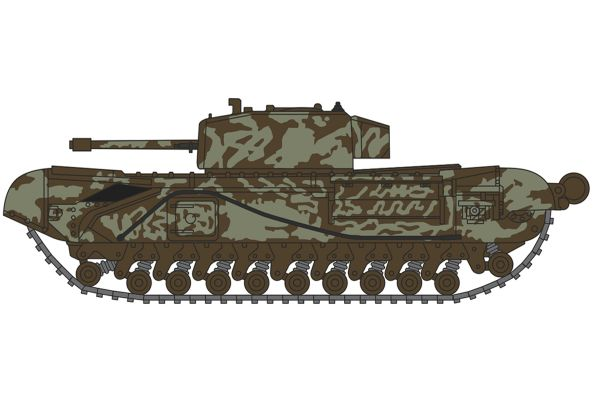 OXFORD 1/148scale Churchill Tank 142 RAC Tunisia 1943  [No.OXNCHT003]