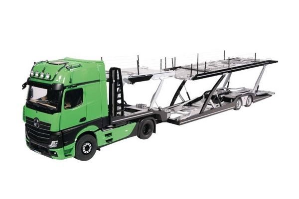 NZG 1/18scale LOHR car transporter / Mercedes Benz Actros Green set  [No.NZG989-30]