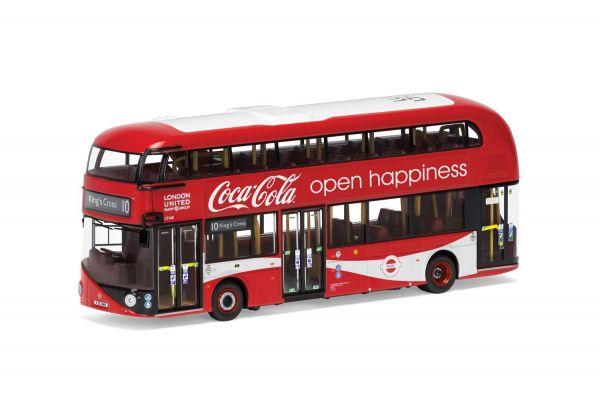 CORGI 1/76scale New Route Master (Double Decker Bus) Coca-Cola London United LTZ 1148 Route 10 King Cross  [No.CGOM46623]